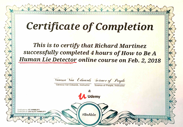 Lie Detector Test Certificate Expedite Detective Agency
